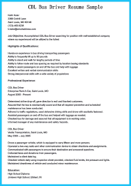 Driver Job Resume Objective Resume For Study