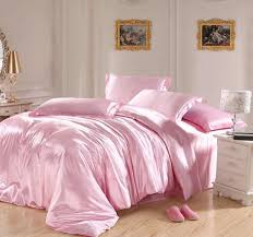 light pink bedding sets silk sheets satin california king size queen double quilt duvet cover bed in a bag bedspread doona bedding queen size