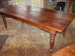 a wonderful rustic farmhouse table 8ft x 44 x 30 with hand turned legs