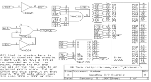 gameboy schematic all about repair and wiring collections gameboy schematic powerservo schematic and a 27c256 eprom running gb basic the eprom ce is