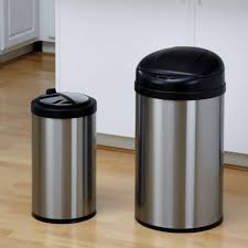 can black metal kitchen trash corner galvanized