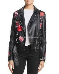 women s moto bale casual embellished faux leather moto jacket in black zf4835