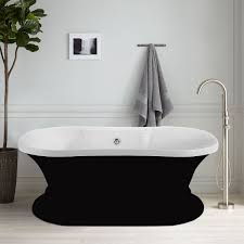60 in freestanding bathtub acrylic black dk a51601