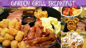 garden grill breakfast walt disney world vacation june 2016 day 3 part 1