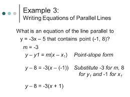 example 3 writing equations of parallel lines