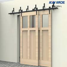 kin made mm l bypass double panel sliding barn door hardware for inspirations doors glazed internal new double sliding patio doors