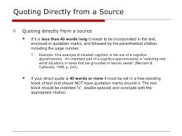 Apa Direct Quote Custom APA Intext Citations