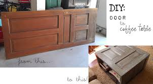 diy from door to coffee table