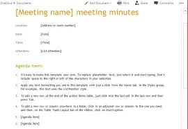 Minutes Document Template Board Meeting Minutes Template Word Of Directors Min Email Notes