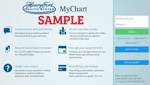 My Henry Ford Chart 18 Complete Henry Ford My Chart Account