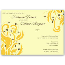 Bateia Gold On Cream Retirement Dinner Invitations Paperstyle