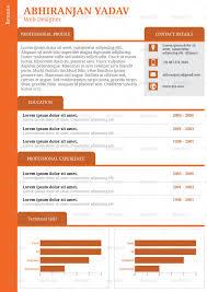 4 Set Creative Professional Resume Template By Abhiranjan