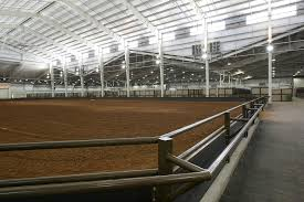 one of the new barns at state fair park