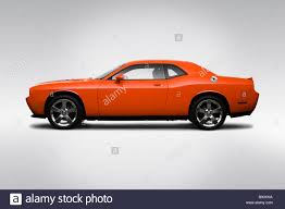 2009 Dodge Challenger R/T in Orange - Drivers Side Profile Stock ...