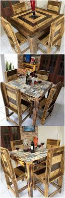 Best 25+ Pallet dining tables ideas on Pinterest   Dining table ...