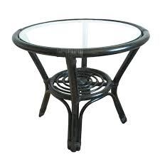 round wicker coffee table with glass top cfe cfee black wicker coffee table glass top