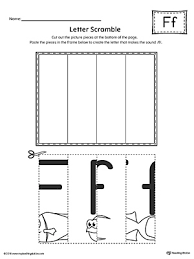 Letter F Scramble Printable Worksheet