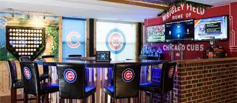 Sports man cave Classy 20 Chicago Sportsthemed Rooms You Must See Sports Mockery 20 Chicago Sports Themed Rooms You Must See