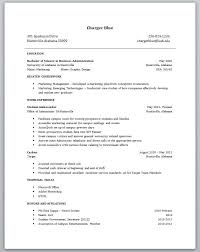 Glamorous Resume For College Graduate With Little Experience 75