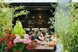 fremont brewery s urban beer garden is a favorite in the city for its spaciousness and for its acceptance of small animals and humans