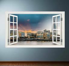 dubai sunset wall sticker window full