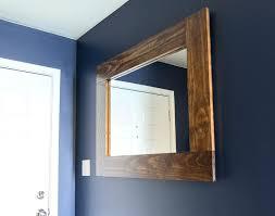 rustic wood framed mirrors. Wood Framed Mirror Rustic Mirrors Diy