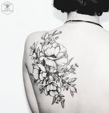 Black Floral Tattoo By Diana Severinenko татту Tattoos Flower