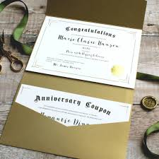 first anniversary paper wife certificate and