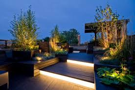 outdoor stairs lighting. Lighting Ideas For Outdoor Gardens, Terraces And Porches : Stairs Deck E