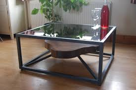 modern metal furniture. Furniture, Black Square Modern Metal Custom Coffee Table Designs Ideas With Glass Top As Living Furniture S