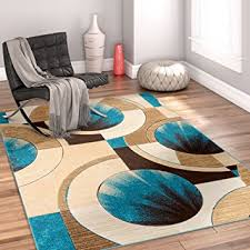 com sunburst blue beige brown modern 5x7 5 3 x 7 throughout and turquoise area