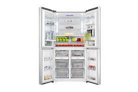 interior of hisense glass door fridge