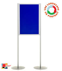 Free Standing Display Board Portable Display Panel Stand Pole and Panel Display Rap Industries 29
