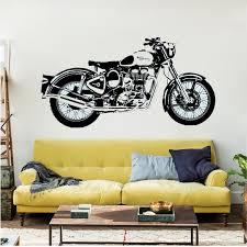 royal enfield motorbike wall art sticker