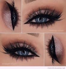 24 glittery rose smokey eyes