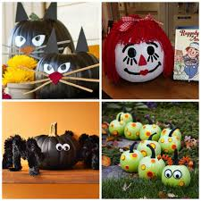 25+ no-carve pumpkin decorating ideas for kids. Tons of ideas I'