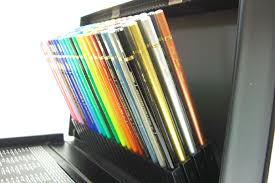 Not get lost because the case fits pretty single colored pencil pen holder  format printed color name and color- surface can be organized.