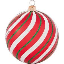 Weihnachtsdeko Kugel Mit Muster ø 8 Cm Rot