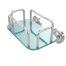 allied brass prestige wall mounted guest towel holder in polished chrome
