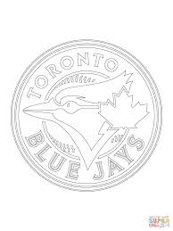 Small Picture Toronto Blue Jays Logo coloring page Free Printable Coloring Pages