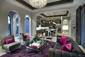 purple rugs for living room contemporary living room with gray wall paint purple area rug and chandelier purple rugs living room