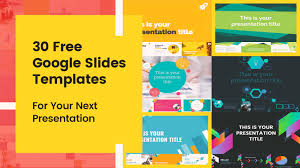 Free Templates 30 Free Google Slides Templates For Your Next Presentation