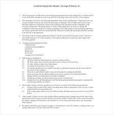 Investment Agreement Templates 11 Venture Capital Investment Agreement Examples Pdf Word Examples