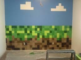 Image Gallery Of Minecraft Wall Decorations 9 Vinyl Sticker Decal Home  Steve Mining Bedroom Wallpaper Decor