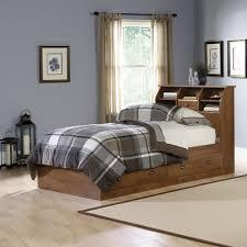 Sauder Bedroom Furniture Sauder 411899 Shoal Creek Oiled Oak Bookcase Twin Bed