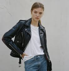 rag bone x schott nyc ing a leather jacket