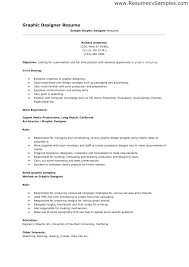 Resume Objective For Graphic Designer Graphic Designer Resume Objective Graphic Designer Word Format 95