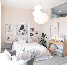 Nordic Bedroom Pastel Pink And Grey Scandinavian Nordic Bedroom With Asymmetrical