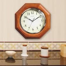 12 inch octagon wood wall clock chaney