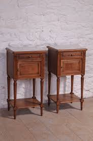 nightstands attractive pair of french oak bedside tables with white grey marble and table dealer bedsteads